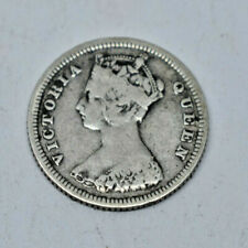 1886  HONG KONG (QUEEN VICTORIA) TEN (10) CENTS SILVER COIN
