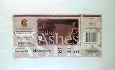 THE ASHES CRICKET MEMORABILIA - Ticket Stub England v Australia Lords 22/07/01