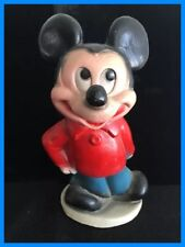 Ultra Rare Vtg Early Mickey Mouse Full Body Bank~Plaster of Paris (or Chalk?)