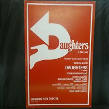 "Daughters Theater Broadway Window Card Poster 14"" x 22"""