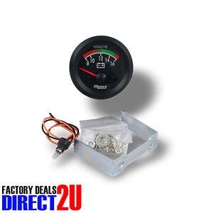 """GENUINE New Speco Meter 2"""" 12 Volt Voltmeter Gauge 8-16 Volts Black 523-22"""