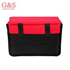 Digital Camera Insert Partition Padded Inner Bag Fit 1xDSLR+2-3xLens Red