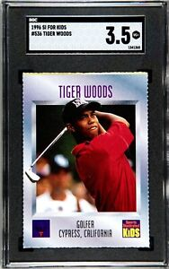 1996 SI for Kids Tiger Woods #536 RC SGC 3.5 VG+