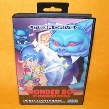 VINTAGE 1992 SEGA MEGA DRIVE WONDER BOY IN MONSTER WORLD CART VIDEO GAME PAL