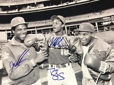 Mike Tyson Darryl Strawberry Dwight Gooden Signed Autographed 16x20 Photo JSA