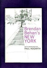 Brendan Behan's NEW YORK CITY Paul Hogarth DRAWINGS Pubs Jack Kerouac 1964 IRISH