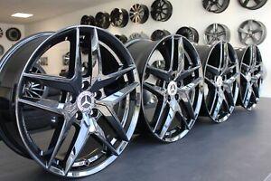 19 Zoll Felgen Mercedes GLC 204X W204 X253 Coupe 43 AMG Design Borbet Z Schwarz
