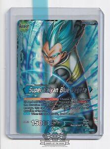 Super Saiyan Blue Vegeta BT1-028 R Foil Leader Dragon Ball Super Card