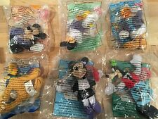 2001 Complete Set of 6: McDonalds Disney HOUSE OF MOUSE  Happy Meal Toys SEALED