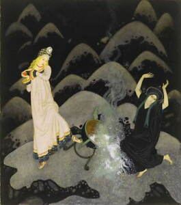 Edmund Dulac Untitled Giclee Art Paper Print Paintings Poster Reproduction