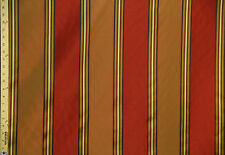 """Rust and Mango stripes with design 57""""- 60"""" inch 100% Polyester By The Yard"""