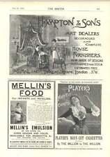 1894 Hampton SONS ART rivenditori Furnishers John TAIT Robertson Dundee Whisky