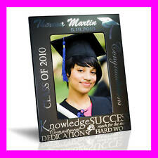 5x7 PERSONALIZED CUSTOM GRADUATION PICTURE FRAME GIFT - BLACK