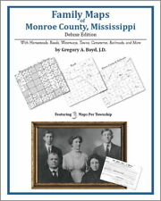 Family Maps Monroe County Mississippi Genealogy MS Plat