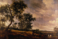 502012 Landscape With Riders Jacob Van Ruysdael A4 Photo Print
