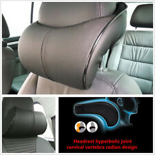 1 Pcs Black PU Leather Automobile Seat Ergonomic Headrest Neck Rest Cushion Pad