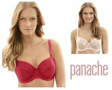 Panache Nouveau Underwired Balcony Bra Blush Pink or Cherry Red 9291 * New