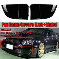 For 2004-2005 Subaru Impreza WRX STi Fog Light Lamp Bumper Bezel Covers