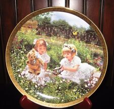 Wildflowers Of Love by Sandra Kuck Enchanted Gardens Plate Collection RECO 1991