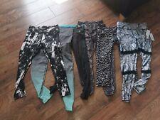 Womens Black And Black/Grey Gym/Sport Leggings Bundle Size S