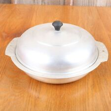 Vintage Metal Lidded Serving Bowl Casserole Dish Lid
