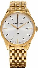 Alexander Heroic Sophisticate SS Plated Yellow Gold Mens Watch A911B-08
