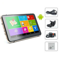 """HD 7"""" Inch Android 4.4.2 Car Navigation GPS 512MB 8GB w/ Front Camera+Free Maps"""