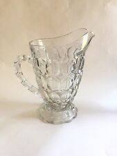 EAPG Antique Challinor Taylor Co. Barrelled Thumbprint Water Pitcher