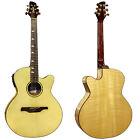 Guvnor GA757CE Electro Acoustic Guitar Jumbo Body Solid Spruce Top Preamp Z00 for sale