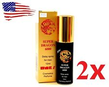 2x Super Dragon 6000 men Delay Spray Longer Sex Ejaculation NEW  *Genuine**