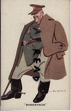 scarce WW1 Military Comic caricature Sir William Robertson QM General BEF 1914