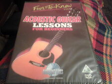 dvd acoustic guitar lessons for beginners 75 mins long new sealed