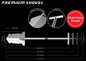 Nokta / Makro Premium Shovel / Spade (Stainless Steel) - DETECNICKS LTD