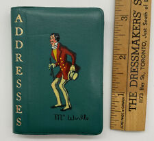 Vintage Mr. Winkle Address Book Made in England by Schove of London Real Leather