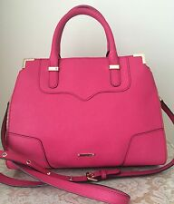 NWT Rebecca Minkoff saffiano leather amorous satchel fuchsia pink bag purse $325