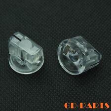 10PCS Transparent Plastic Pointer Knob for Guitar Effect Pedal Stomp Box 19x15mm