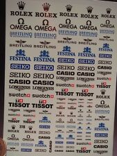 DECALS 1/43-1/32-1/24-1/18 ROLEX BREITLING FESTINA SEIKO CASIO TISSOT OMEGA T318
