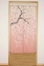 narumikk noren(Japanese curtain) Gradation Weeping Cherryblossom tree from Japan