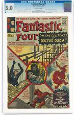 Fantastic Four #17 (Aug 1963, Marvel Comics) CGC 5.0 VG/FN | Dr. Doom appearance