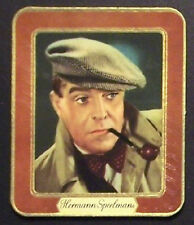 Hermann Speelmans 1937 Garbaty Passion Film Favorites Embossed Cigarette Card 66