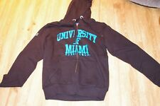 New NCAA Men's University of Miami Hurricanes Full Zip Sweat à Capuche en Noir-Medium