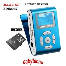 Majestic Lettore Multimediale SDB8339 Blue MP3 WMA Display Radio MICROSD 8GB NE