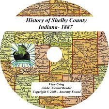 1887 History & Genealogy of SHELBY County Indiana IN