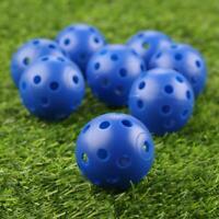 12/24 Pcs Golf Balls Plastic Whiffle Airflow Hollow Golf Practice Training Balls