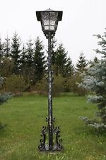 Cast iron real hand made garden lamps