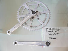 1960s-70s TA specialities crank set 170mm chainrings 49/39T GC dural french bike