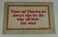 Vintage Cheer up Greeting Card 1912 Rare Posted Antique Postcard Collectible