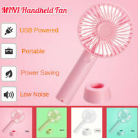 Portable Mini Fan Handheld Desk Cool Cooling USB Rechargeable Quiet Home Travel