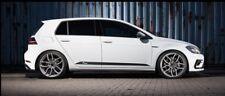 RacingLine R Line Car Side Decals Sill Stickers Black VW Audi Seat Skoda Silver