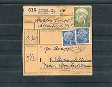 BRD Paketkarte mit Heuss Frankatur - b0831
